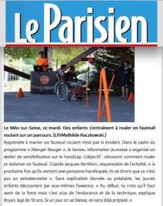 le parisien animation sportive Radar handisport