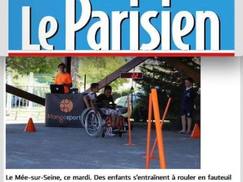Le Parisien Mango Sport Animation football Fauteuil roulant